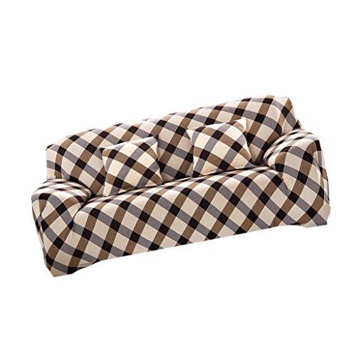 Universal Landhaus Stretch Sofabezüge Sofahusse Couch Husse, Weich und Beque für 3er- Sofa - Prinzessin Ehefrau, 190-230cm