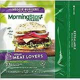MorningStar Farms Veggie Burgers, Plant Based Protein Vegan Meat, Frozen Meal, Meat Lovers, 8oz Bag...