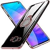 kadixini Kompatibel mit Handyhülle Samsung Galaxy S8 Hülle Soft Silikon Hülle Ultra Dünn TPU Bumper Case 360 Grad Ring Stand Magnetische Autohalterung Schutzhülle für Transparent Anti-Kratzer