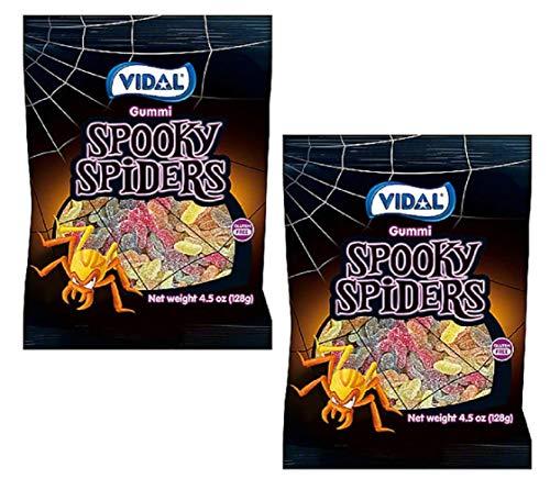 Vidal Gummi Spooky Spiders Gummy Halloween Candy, 4.5 Oz (Pack of 2)