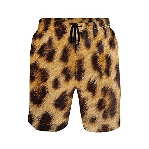 136 Herren Strand Badehose Leopard Muster Boxer Badeanzug Unterwäsche Boardshorts Gr. XL, mehrfarbig