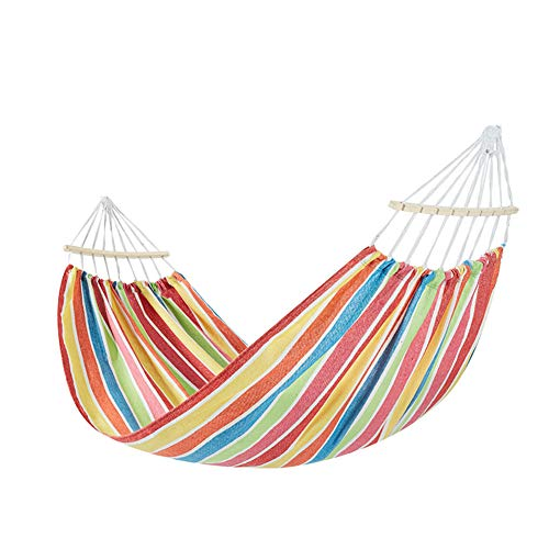 LSGMC Best Choice Products 2-Person Woven Cotton Rope Double Hammock for Porch, Backyard, Patio, w/sling, Carrying Case.