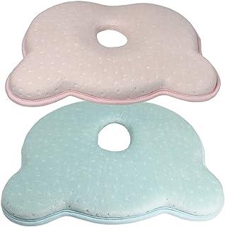 Cojín para Bebé, Almohada Bebe, Almohada para Niños Pequeños, Almohadas para Bebés Recién Nacidos Almohada para Bebés Almohada para Dormir, Paquete de 2 (1 Azul, 1 Rosa)