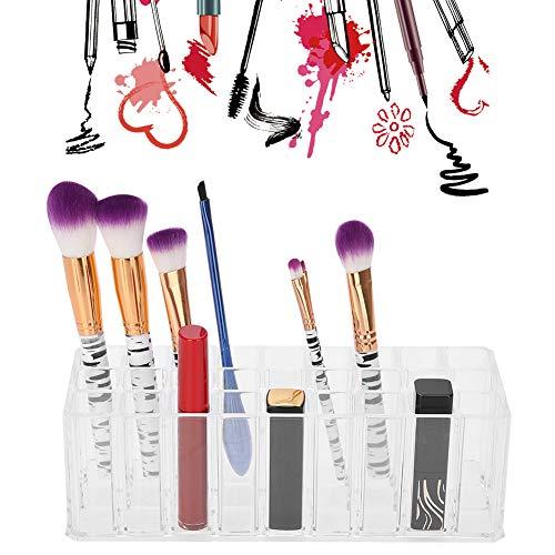27 Grid Acryl cosmetische opbergdoos, cosmetische koffer Nagelborstel Container Make-up vitrine Lipstick Organizer Display voor het organiseren van cosmetica, sieraden, haaraccessoires, badkamer