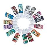 15 Pigmento de Colores Metálicos Perlados con Brillos para Resina Epoxi Manualidades, colorantes líquidos con purpurinas, kit para resina arte DIY