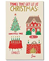 American Greetings Funny Lit Christmas Card with Glitter (5777176)