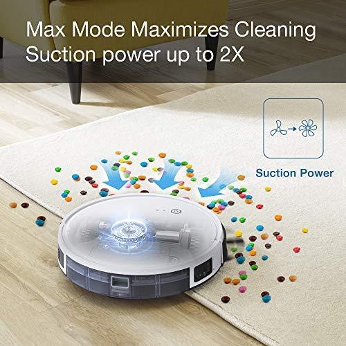 Aspirapolvere robot, ECOVACS DEEBOT 605, Aspira o Lava, navigazione sistematica intelligente, modalità Max, controllo con App e Alexa, ideale per pavimenti duri, tappeti, tutti i tipi di pavimenti