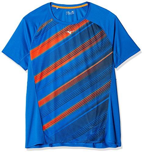 Mizuno Premium Aero T-Shirt Homme, Bleu Marine/Nautical Blue/Clownf, FR : M (Taille Fabricant : M)