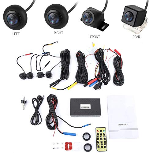 For Sale! DVR Security Camera System Recorder, 720P HD Car DVR Camera 360° Surround View Camera Sys...