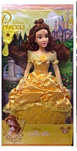 Authentique Disney - Princess Belle poupée classique, Sparkles dans sa belle robe.