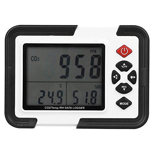 Akozon Digital CO2 Monitor gasanalysator HT-2000 9999 ppm temperatuur relatieve luchtvochtigheid monitor luchtkwaliteit meter/thermometer/hygrometer Co2 luchttemperatuur datalogger NDIR sensor IAQ