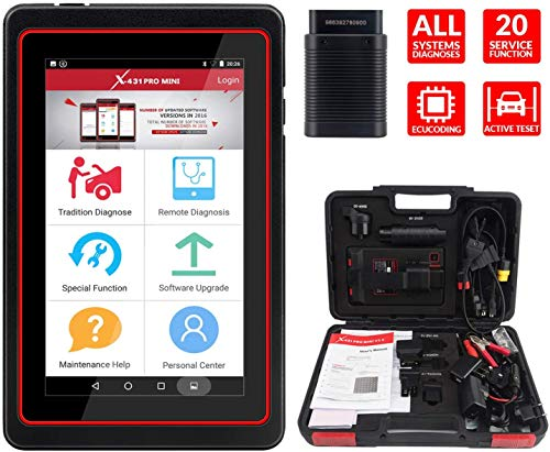 LAUNCH X431 PRO Mini Bidirektionaler Scanner Vollsystem-Scanner, Tastenprogrammierung, Rücksetzfunktionen ABS-Entlüftung, TPMS, EPB, SAS, DPF, BMS, ECU-Codierung, Injektorcodierung