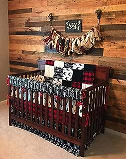 DBC Baby Bedding Co. Woodland 4 PC Crib Bedding - Skirt, Sheet, Blanket, Long Rail Guard