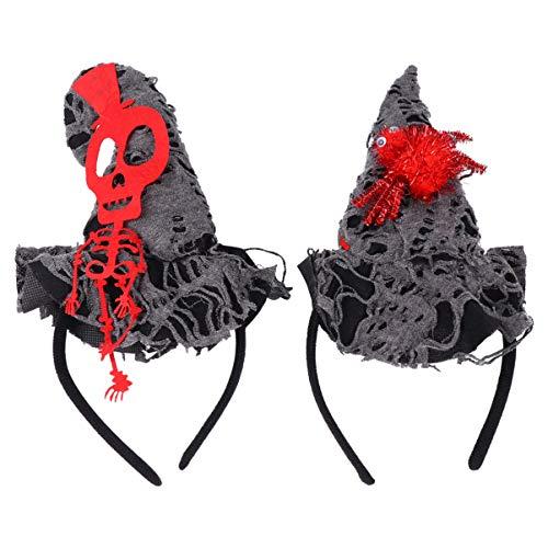 Minkissy 2 peças de tiara de Halloween com esqueleto de aranha para festa de fantasia (cores sortidas)