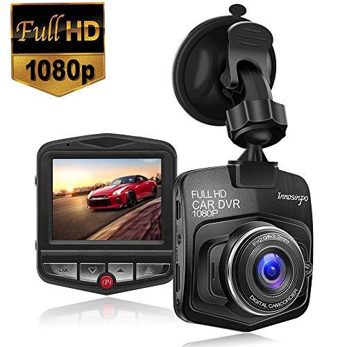 Verbesserte Armaturenbrett-Kamera, 1080 P, FHD Auto DVR-Videorekorder mit Nachtsicht, G-Sensor, Loop-Aufnahme, Bewegungserkennung und Park-Monitor DP Black Schwarz