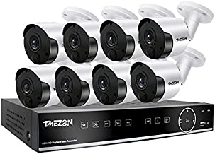 TMEZON AHD 2.0MP 8CH Security Camera System Recorder with 8x Indoor/Outdoor Camera, PIR Detection and Motion Detection, Ni...