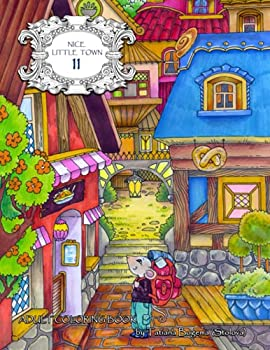 Nice Little Town 11  Adult Coloring Book  Mice adventures stress relieving designs