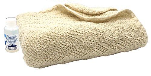 Disana Woll-Babydecke 80 x 100 cm aus Merino-Schurwolle kbT, natur inkl. Feinwaschmittel Wiki