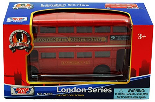 London Double Decker Bus , Red - Motormax 76002 - 4.75