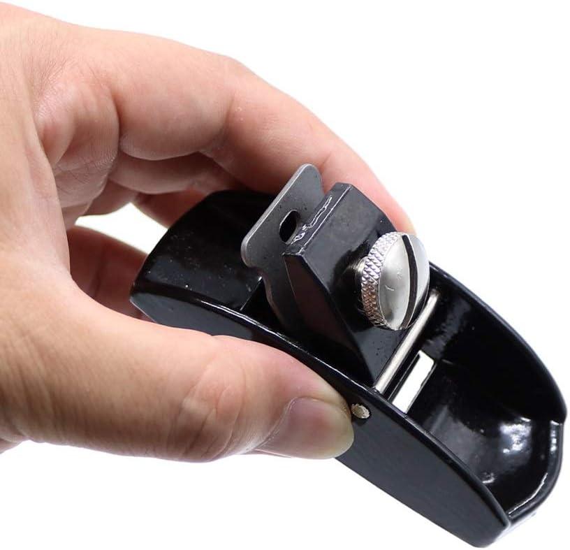 Color : Black Yuanfbh Cepilladora de Madera Manual 90mm 3-1//2 Herramienta Plana del Carpintero carpinter/ía de Bricolaje Mano Ajustable Duro Minibloque Plano