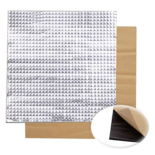 ILS - 3 stuks 300x300x10mm folie zelfklevende warmte-isolatie katoen voor 3D-printer verwarmbaar bed
