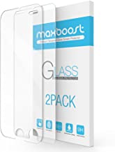 iPhone 7 Plus Screen Protector, Maxboost 2 Pack Tempered Glass Screen Protector for Apple iPhone 7 Plus/iPhone 6/6s Plus [3D Touch Compatible] 0.2mm Screen Protection Case Fit - Clear