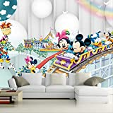 3d Cartoon Tapete Wandtafel Malerzimmer Non Woven 3d Tapete Für Kinder Zimmer Baby Bedroom ' Wall 3d Wand Aufkleber Tapete (H)250*(W)175cm pro
