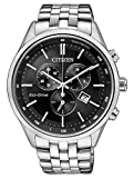 Citizen Herren Chronograph Quarz Uhr mit Edelstahl Armband AT2141-87E