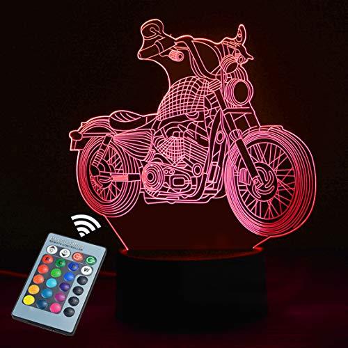Luce notturna 3D per bambini, Touch Switch Telecomando 16 colori cambia --CNSUNWAY LIGHTING Regali perfetti Compleanno Festival di Natale per i piccoli amici adolescenti