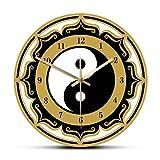 hufeng Reloj de Pared Símbolo de Yin Yang Reloj de Pared Moderno Filosofía China Amuleto...