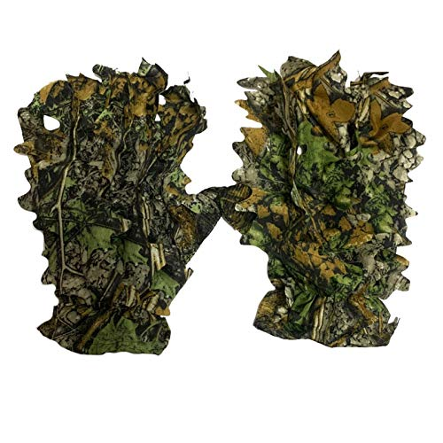 Nikula D Handschuhe 3D Blättertarnanzug Woodland Camo Handschuhe OutdoorHandschuhe Mit Belaubten 3D Sneaky Stretch Jagd Angeln Handschuhe Für Männer Compatible