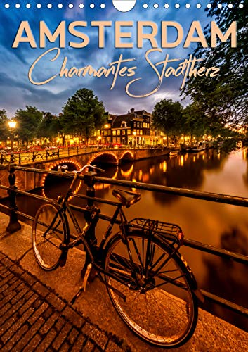 AMSTERDAM Charmantes Stadtherz (Wandkalender 2021 DIN A4 hoch)