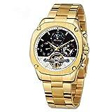 Reloj Forsining Hombre Automático de Acero Inoxidable con Tourbillon Y Fecha (Oro)