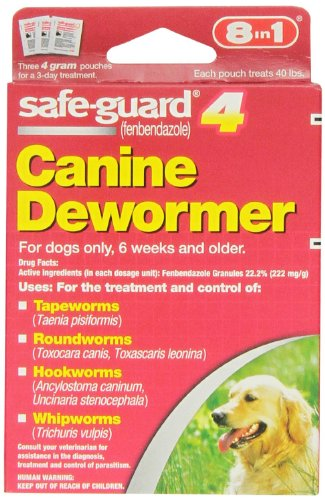 Excel 8in1 Safe-Guard Canine Dewormer for Large Dogs, 3 Day...