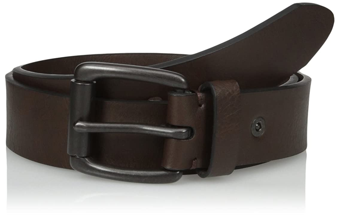 Levi's Men's 1 1/2 in.Briddle Belt With Cut Edge and Rivet Detail,Brown,44