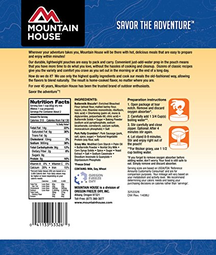 Mountain House Biscuits & Gravy | Freeze Dried Backpacking & Camping Food 4