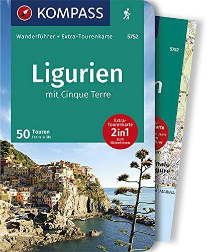 KOMPASS Wanderführer Ligurien mit Cinque Terre: Wanderführer mit Extra-Tourenkarte 1:50.000, 50 Touren, GPX-Daten zum Download.
