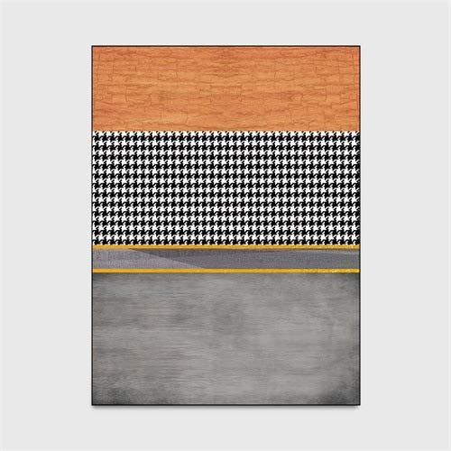 HJFGIRL modern eenvoudig tapijt dikke geometrische tapijten superzachte houndstooth antislip antislip tapijt voor woonkamer/slaapkamer/kinderkamer/eetkamer,A,40 * 120cm