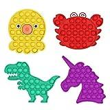 Bonito juguete para niños y adultos, burbuja de silicona inquietos, juguetes sensoriales, necesidades especiales de estrés relevantes, padres...