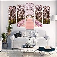 アートパネル モダン インテリア アート キャンバス絵画 美しい花 HDプリント絵画 ペインティング リビングルーム ベッドルーム 家の装飾 北欧 壁絵 アートフレーム(5枚セット)