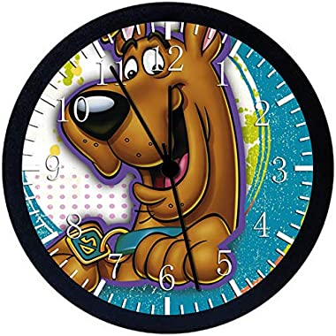 "Scooby Doo SCOOB 12"" Wall Clock Glass Large Silent Non-Ticking Nice for Gift or Wall Decor X51"