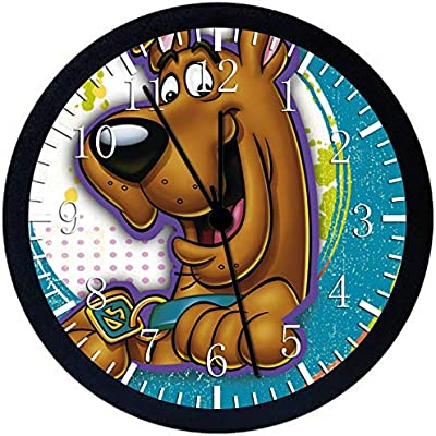 """Scooby Doo SCOOB 12"""" Wall Clock Glass Large Silent Non-Ticking Nice for Gift or Wall Decor X51"""