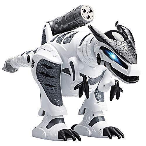 Dinosaurier Robot, DAXIN Intelligenter Ferngesteuerter Roboter Dinosaurier Fernbedienung Interaktiver Tier Spielzeug mit Programmierung Gehen Tanzen Musik Geschenk für Jungs Mädchen Kinder