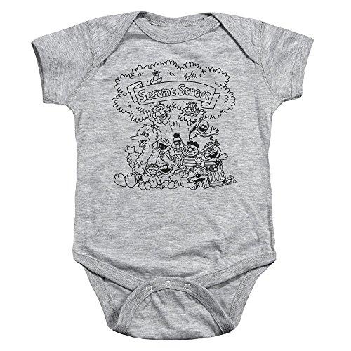 Sesame Street - Barboteuse - Bébé (garçon) - gris - 24 mois