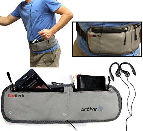 Navitech Smartphone Wasser Widerständiges Neoprene Sport/Jogging/Lauf Fitness gürtel/Bauchtasche in grau für dasHTC Desire 10 Lifestyle