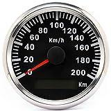 ELING Impermeable GPS Velocímetro Odómetro 200KM/H para Coche Moto Buggy con Luz de Fondo 85mm 12V/24V