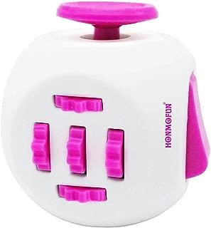 Honmofun ADHD Fidget Cube Fidget Twisty Cube Fidget Cube Spinner Fidget Cube Fidget Cube Keychain Fidget Toys Fidget Cube Fidget Toy (Pink)