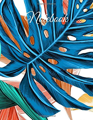 Notebook: Beautiful/Artistic design, Lined Journal, 110 pages, 8.5x11 large print, Soft Cover, Glossy Finish.