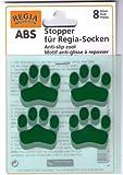 ABS Stopper zum Aufbügeln Socken Anti-Rutsch Farbe 04-grün