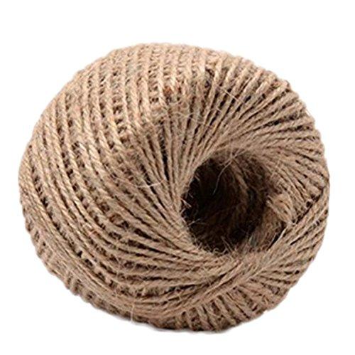 Corde de jute naturelle épaisse Da.Wa de 30 m, corde de jute pour cadeaux, bricolage, décoration ou pour le jardinage